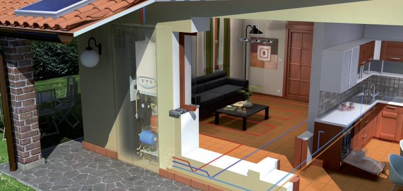 Flessibilit di installazione immergas for Caldaia da interno